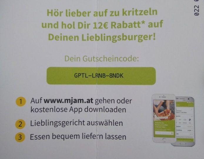 12€ Neukunden-Gutschein (mjam.at)