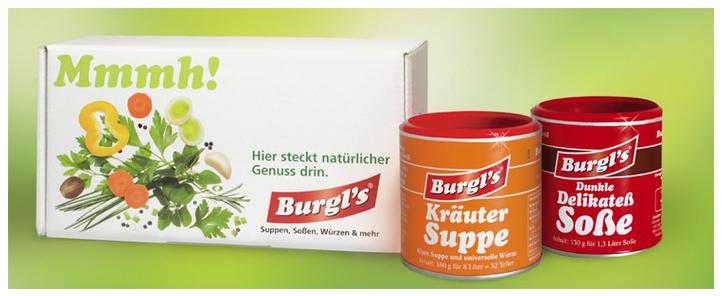 [Burgl's] Gratis Suppe und Soße testen
