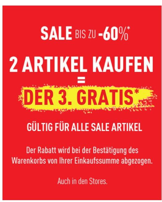 [Pimkie] 2 Sale-Artikel kaufen und den 3. Sale-Artikel Gratis bekommen