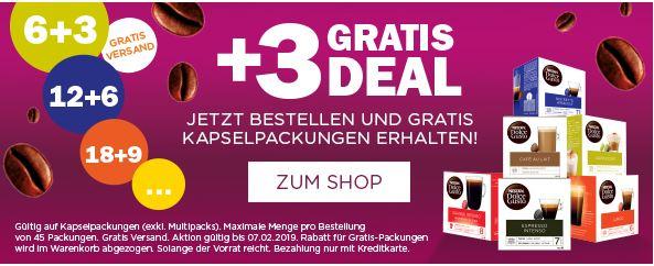 6 + 3 gratis und versandkostenfrei für Dolce Gusto Kapseln