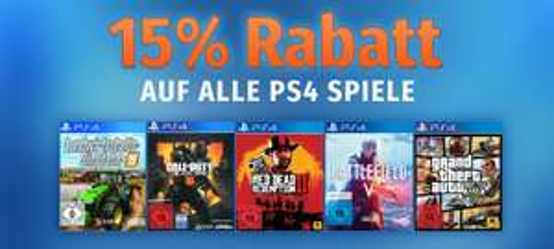 Müller: 15% Rabatt auf alle PlayStation 4 Games - nur heute gültig!