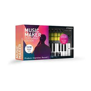 [Amazon] MAGIX Music Maker 2019 Performer Edition – Music Maker Premium Edition + USB-Pad-Controller