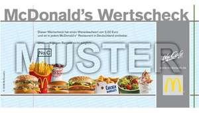 DailyDeal Kracher! 6€ Mc Donald's Wertscheck für 3€ *UPDATE* NOCH BESSER: 4€ Gutschein für 1€