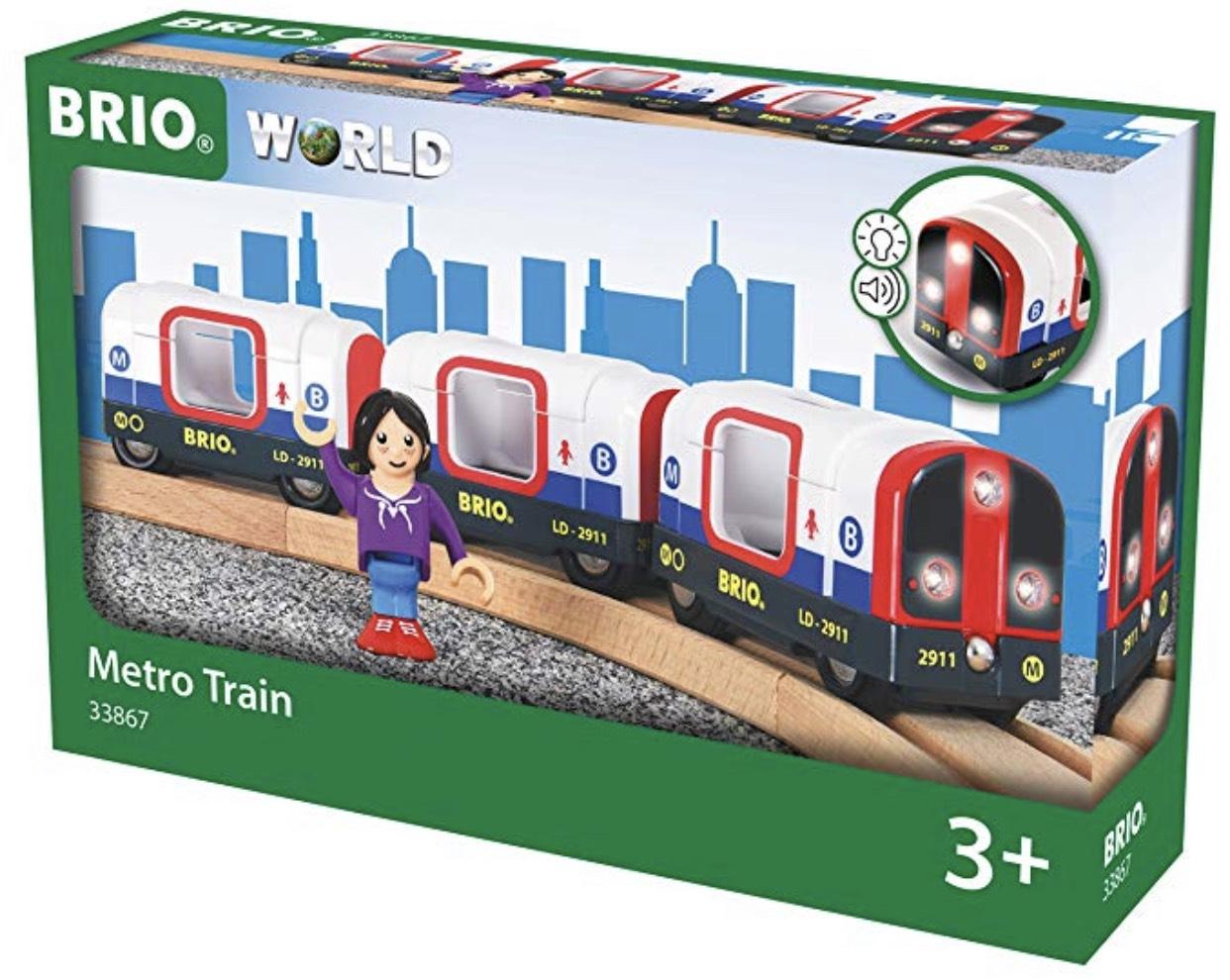 BRIO World 33867 - U-Bahn mit Licht und Sound für 9,80€