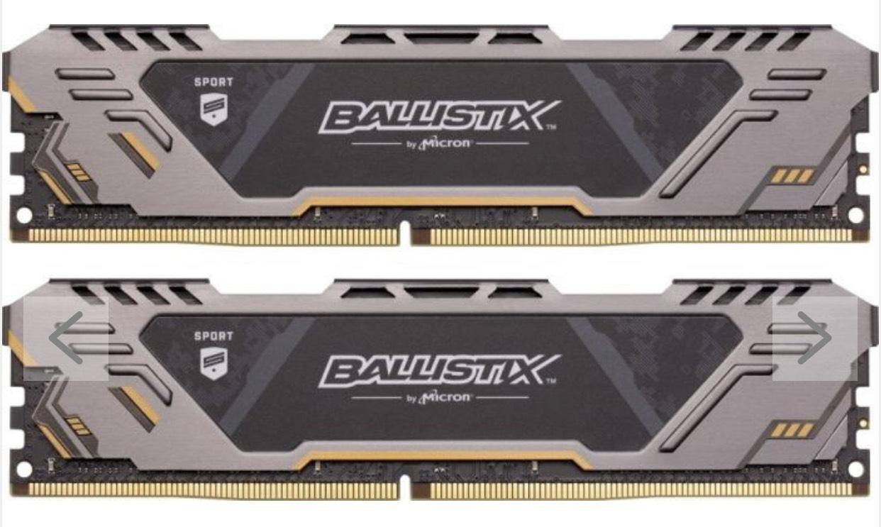 Crucial Ballistix Sport AT DIMM Kit 16GB, DDR4-3000, CL17-19-19  für 86,08€ (amazon.es)