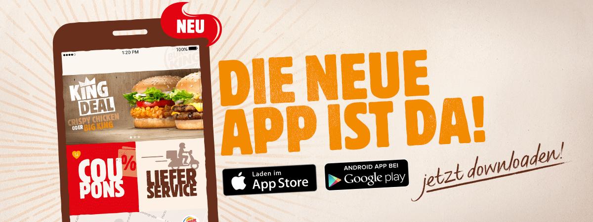 Neue Burger King Coupons in der App mit Anmeldung