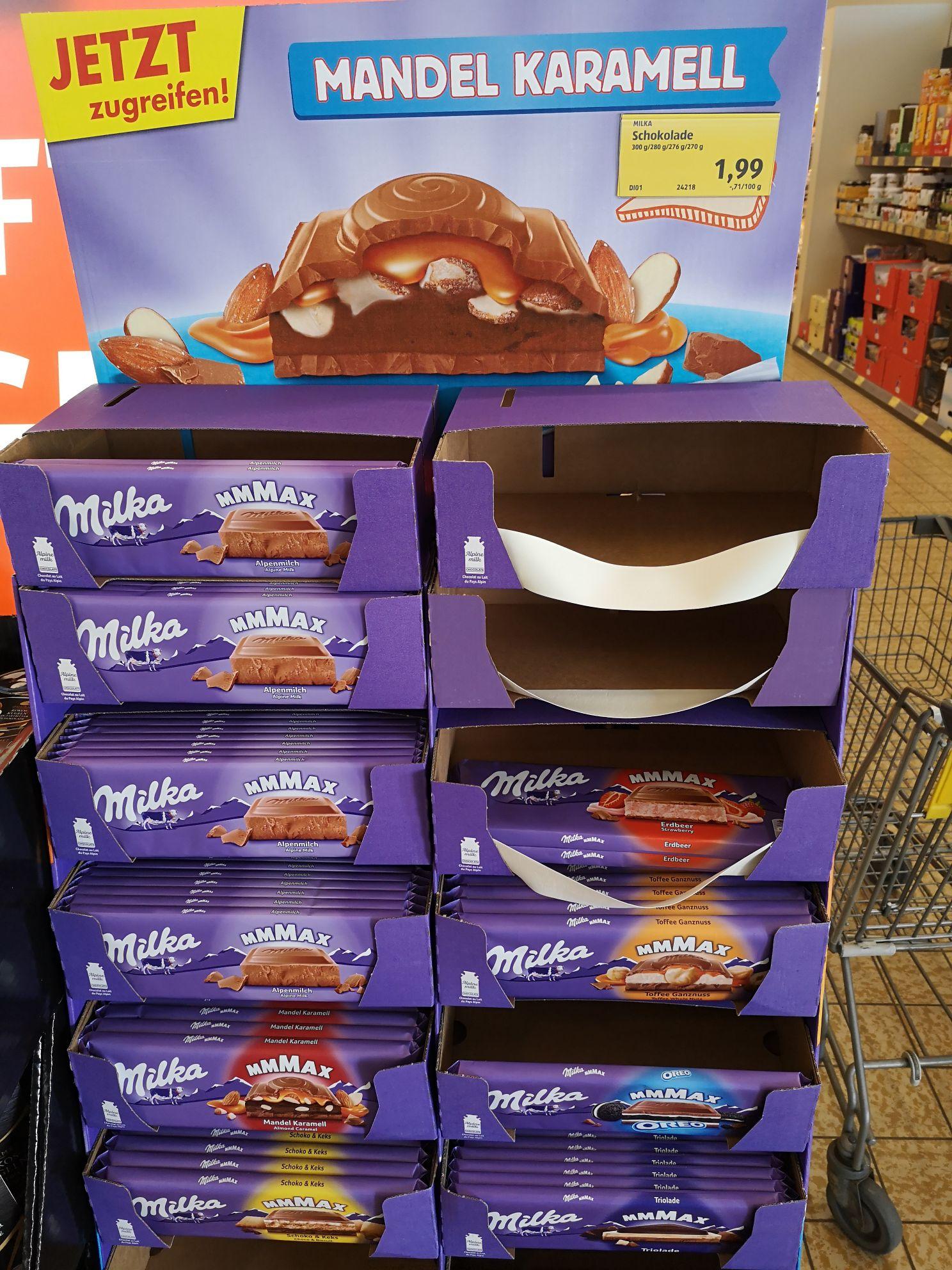 [Hofer] Milka 300gr Schokolade diverse um 1,99