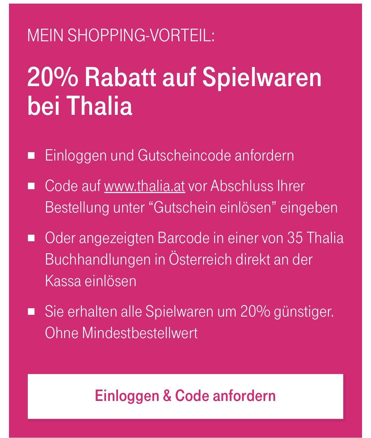 20% auf Spielwaren bei Thalia