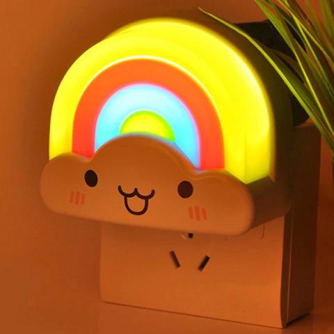 Rosegal: Creative Mini Voice Control Rainbow LED Night Light