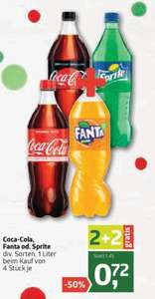 Coca-Cola, Fanta oder Sprite 2+2 gratis bei ADEG