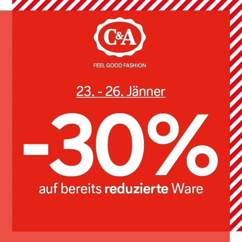 C&A -30% auf bereits reduzierte Ware