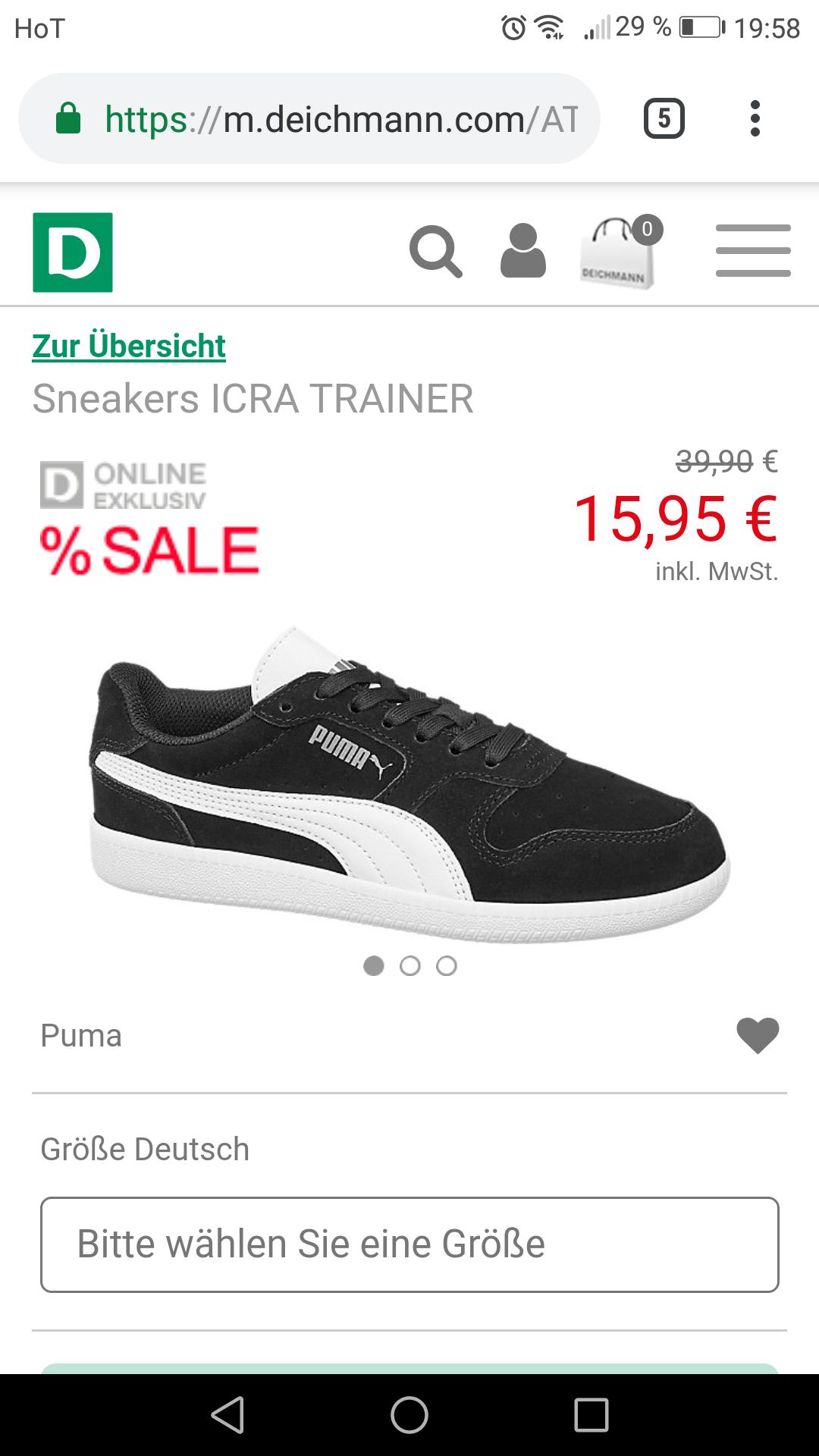 Deichmann sneakers von Puma