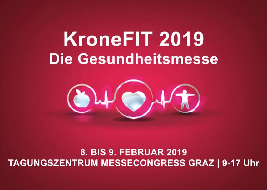 """(Graz Tipp) """"KroneFIT 2019"""" Gesundheitsmesse - gratis Eintritt - am 8.2.-9.2.2019"""