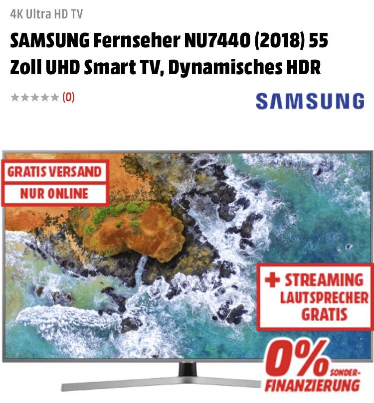 """55"""" Samsung TV + Multiroom Bluetooth Lautsprecher"""