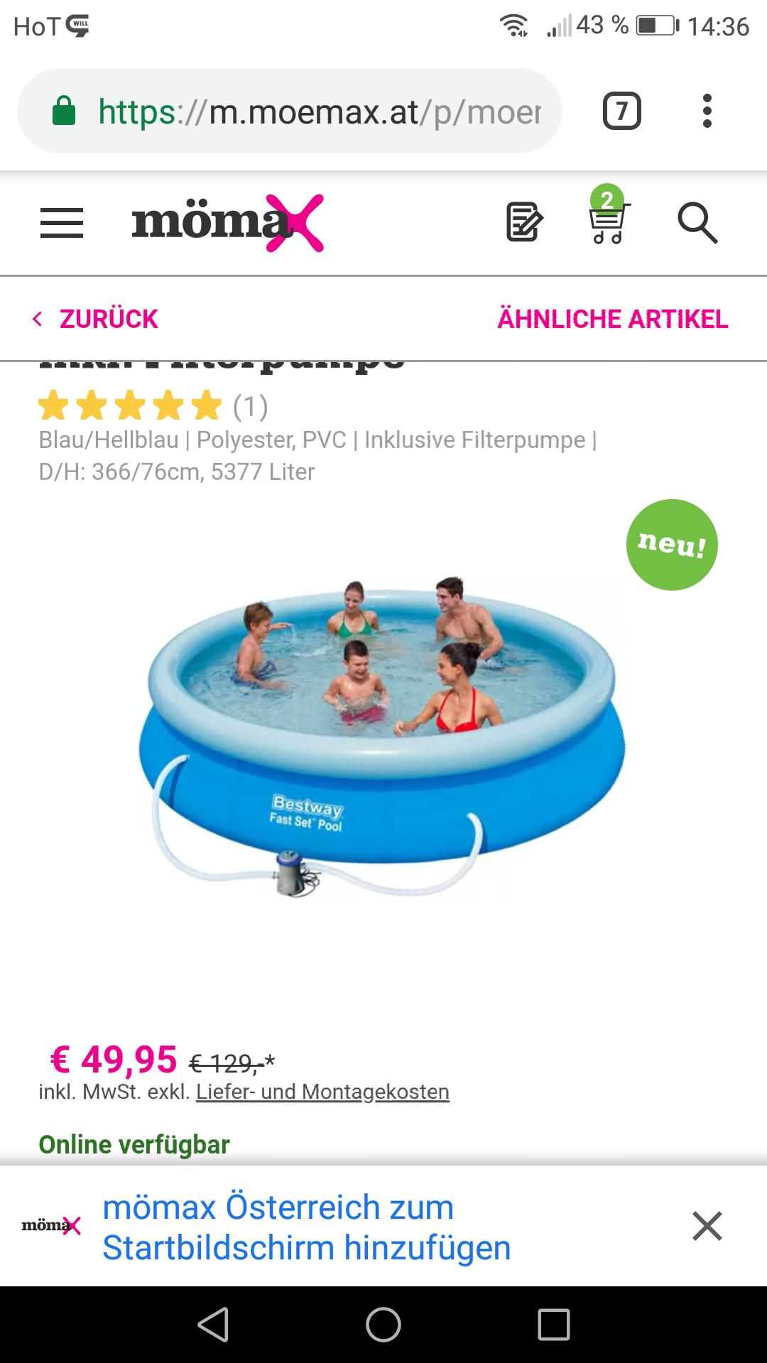 Bestway schwimmbecken bei mömax