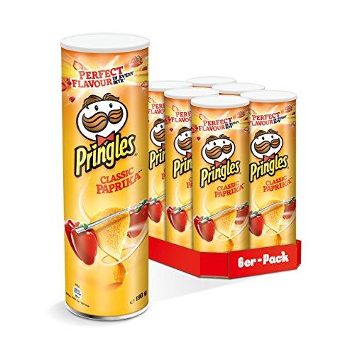 [Fetter Preisjäger*] Pringles Classic Paprika, 6er Pack (6 x 190 g) (Sparabo mit 5 Artikel & Coupon)