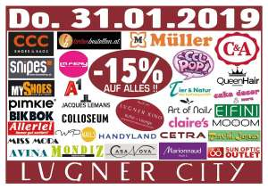 Lugner City-15% auf alles in 32 shops