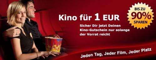 10€ Kinogutschein für 1€ bei CityDeal