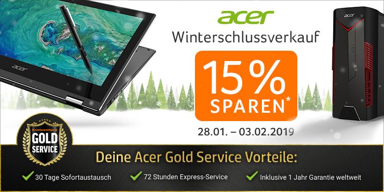 Acer Sale bei Notebooksbilliger