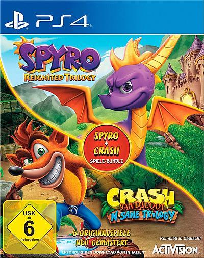 Spyro & Crash PlayStation 4 für 45,30€  bei Paketshop-Lieferung