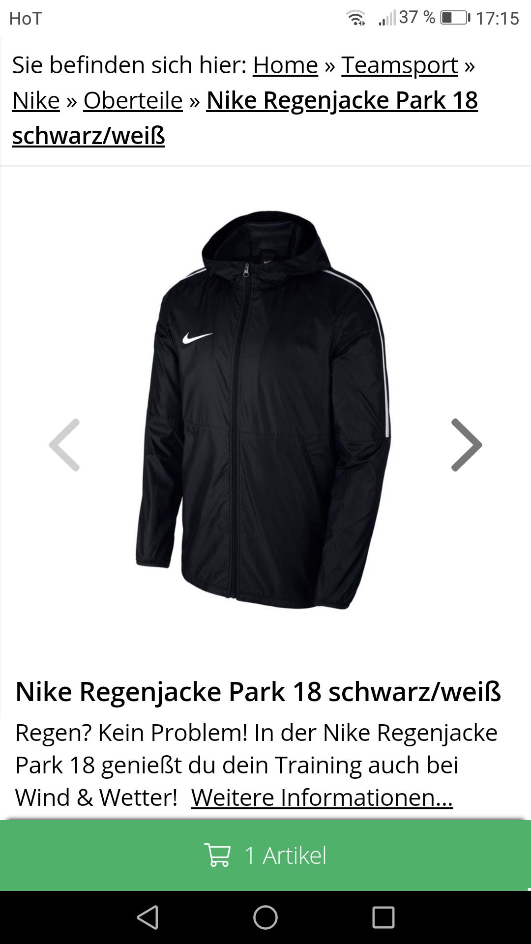 Geomix Nike regenjacke verschiedene Farben