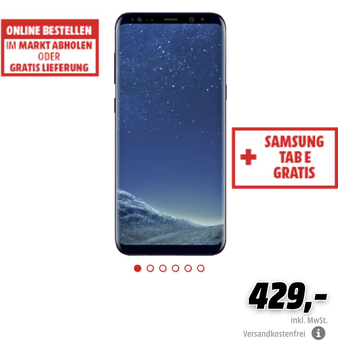 "Samsung ""S8+"" Smartphone + Samsung Tab E Tablet"