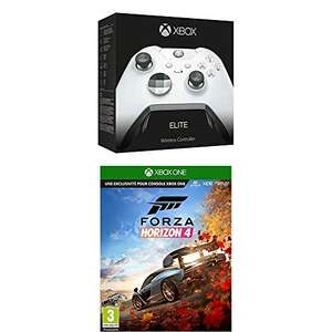 Amazon.fr: Xbox Elite Controller White + Forza Horizon 4 + Gears of War 4 um 114,23€