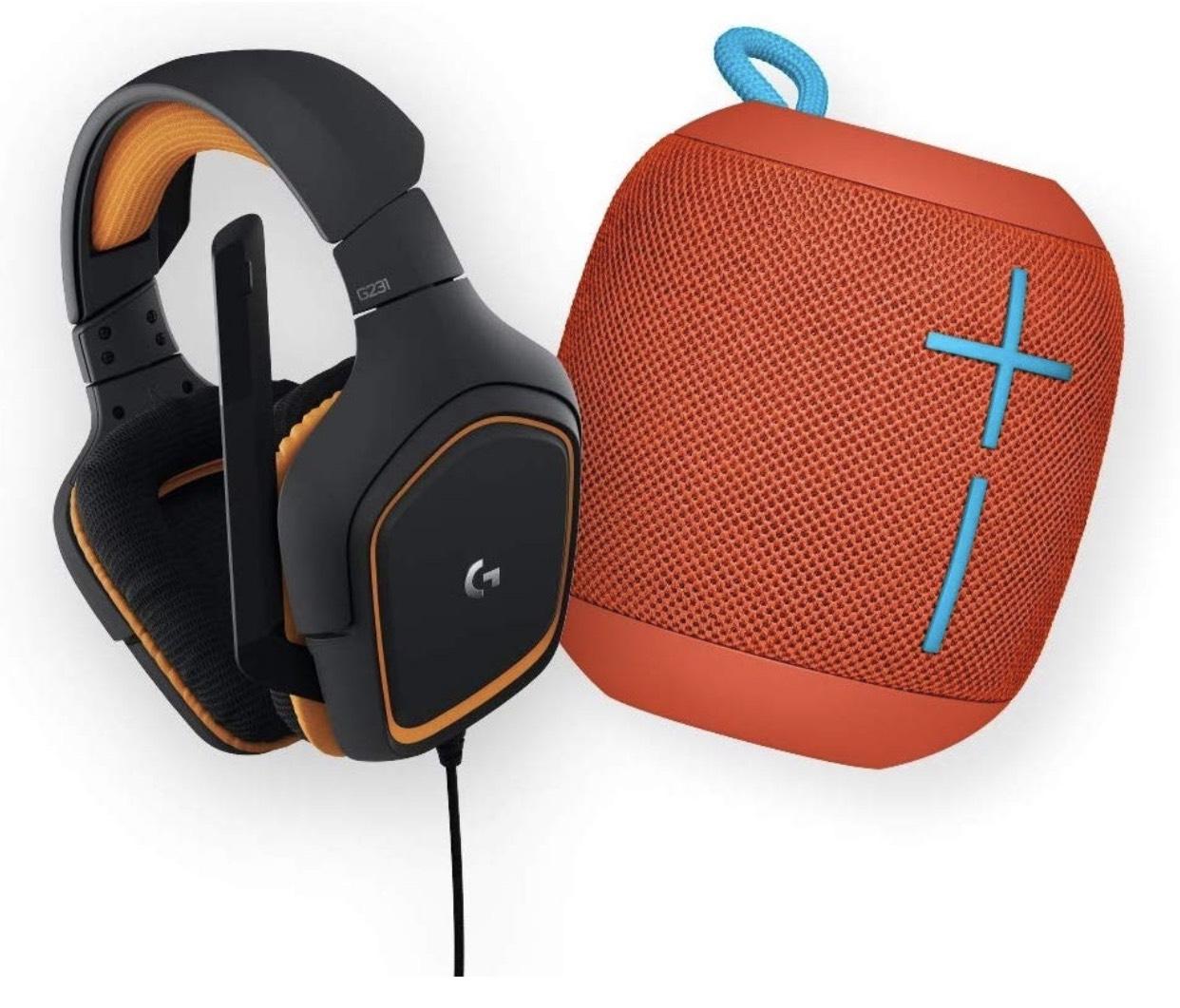 Ultimate Ears WonderBoom Bluetooth Lautsprecher + Logitech G231 Prodigy Headset für 77,65€