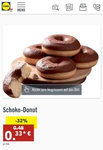 [AB DONNERSTAG] Schoko-Donuts bei Lidl um 33 Cent!