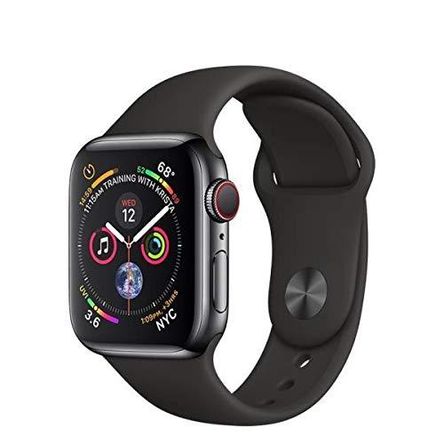 Apple Watch Series 4 (GPS + LTE + Edelstahl + 40mm) mit Sportarmband