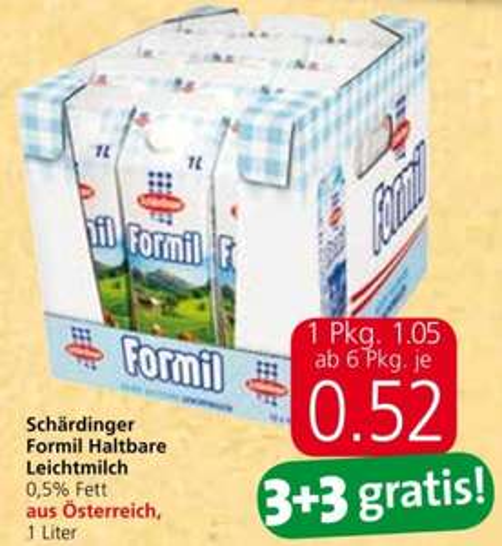 [Spar / Eurospar / Interspar] Schärdinger Formil Halbfettmilch 3+3 gratis