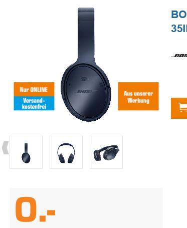 [Preisfehler Saturn] BOSE Bluetooth Kopfhörer QuietComfort® 35II Limited Edition für 0,-€