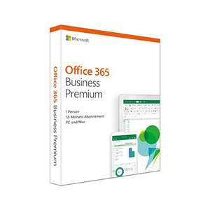 [Amazon] Microsoft Office 365 Business Premium multilingual | 1 Nutzer | 5 PCs /Macs, 5 Tablets, 5 mobile Geräte | 1 Jahresabonnement