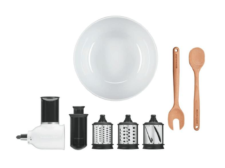 [Saturn.at] Kitchen Aid Gemüseschneider Aufsatz 5KSMSAB mit 3 Trommeln und Salat Set