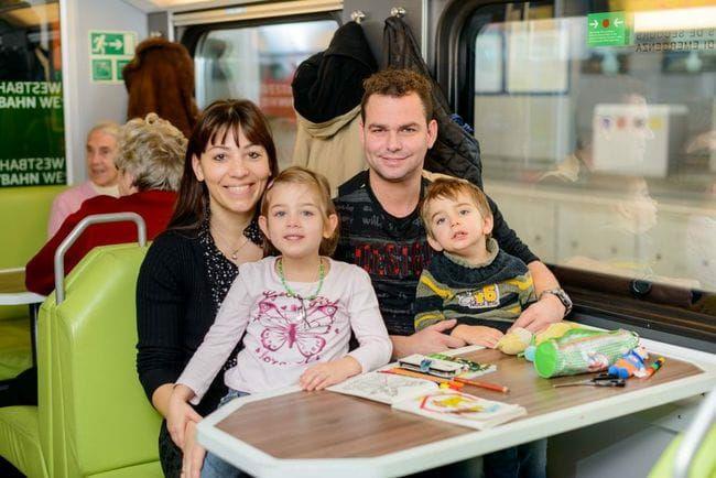 Mit der WESTbahn zum halben Preis reisen  (mit Familienkarte/Pass)