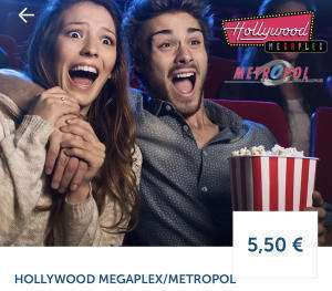 Hollywood Megaplex / Metropol - jeden Montag - Kino Tickets um 5,50 €