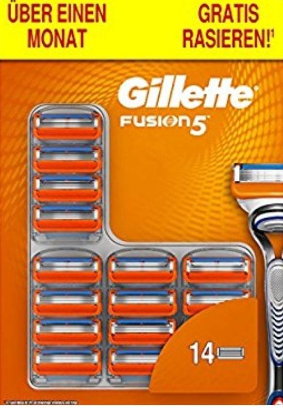 Gilette Fusion 5 Rasierklingen - 14 Stück