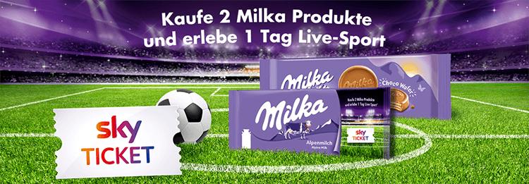 Streame einen (oder jeden) Tag Live-Sportmit Milka und Sky Ticket [auch ohne mehrfachem Kauf]