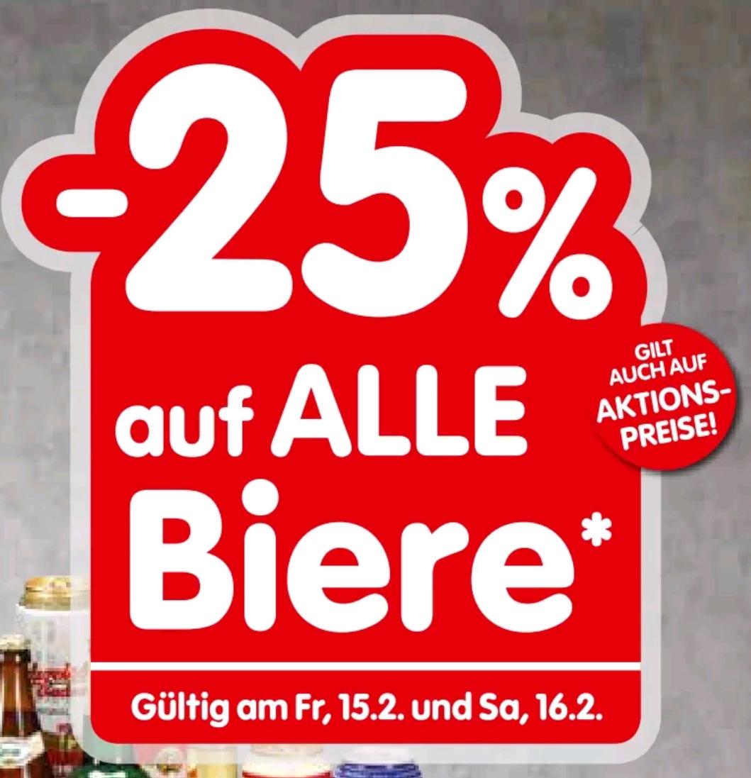 [INTER/SPAR] 25% auf Bier am Fr./Sa.