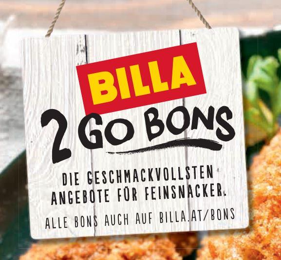 Neue Billa 2 Go Bons bis 13.03.2019