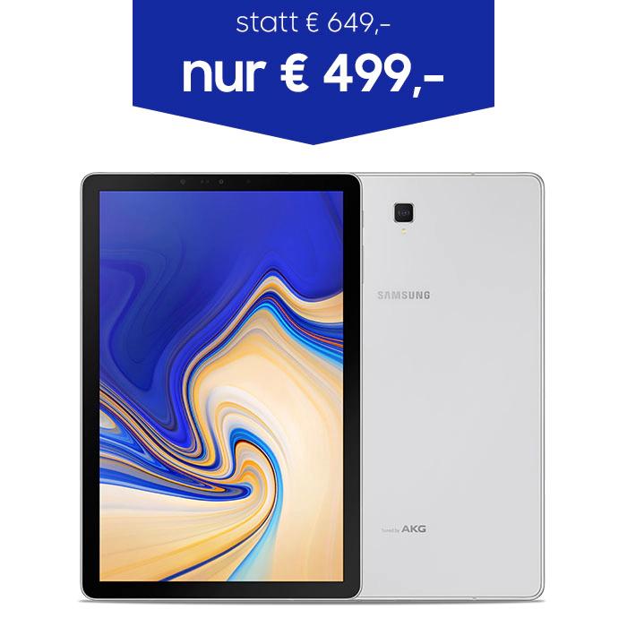 """[Samsung Store] Galaxy Tab S4 WiFi/LTE Silver/Black 10,5"""" 64GB ab € 499,00"""