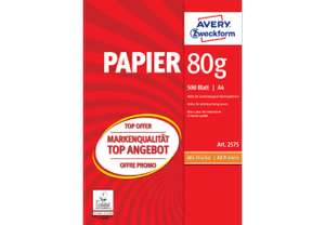 Media Markt: Avery Zweckform (Kopierpapier - nicht KLOpapier) zwei Packungen -1000 Blatt