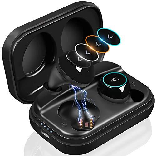 Wireless Kopfhörer  IPX7 Wasserdicht Bluetooth Headset mit Mikrofon und  mit Ladebox
