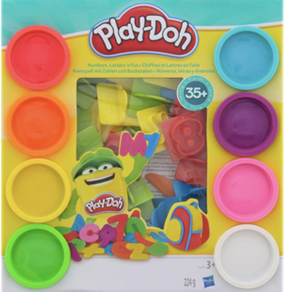 Play-doh Zahlen und Buchstaben um 4,72€.
