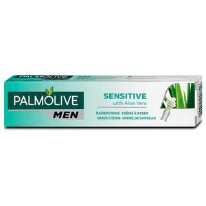 DM: Palmolive Men Rasiercreme Sensitive mit Aloe Vera