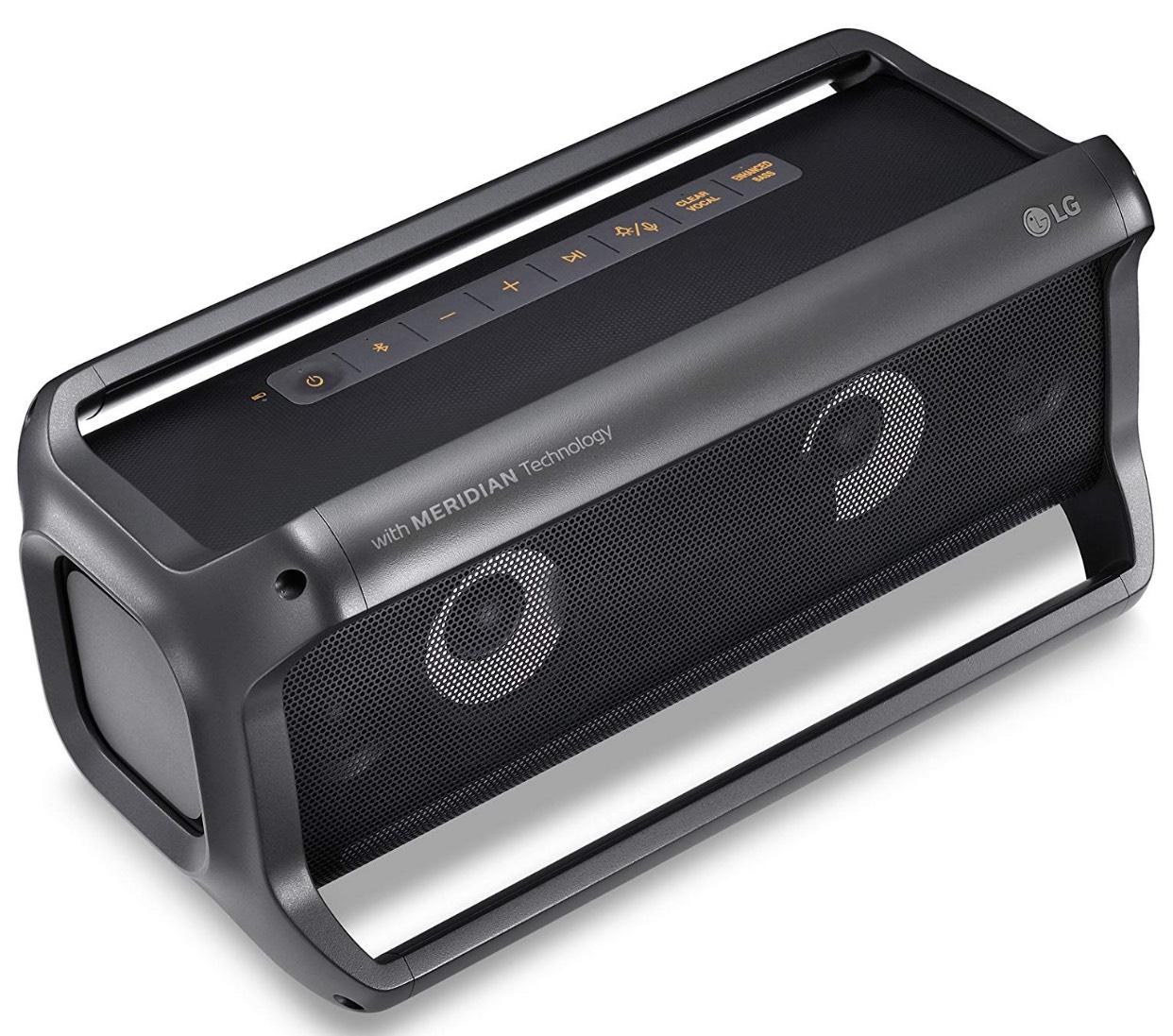 LG PK7 Outdoor Bluetooth Lautsprecher mit Meridian Technologie Schwarz für 80,66€
