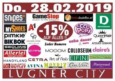Lugner City: 15% Rabatt in vielen Shops - nur am 28. Februar 2019