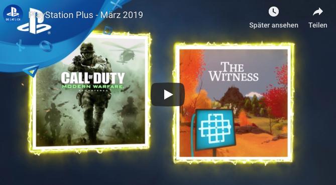 "(PlayStation Plus) ""Call of Duty: Modern Warfare Remastered"" + ""The Witness"" - GRATIS im März"