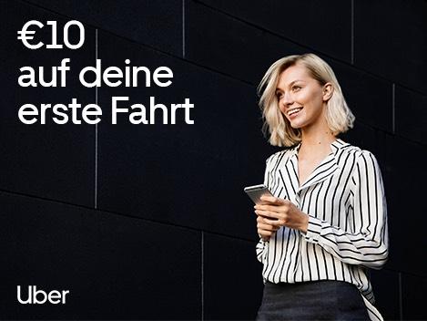 Uber 10€ Gutschein bei Erstanmeldung