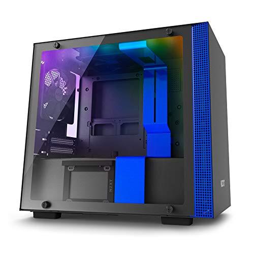 NZXT CA-H200W-BL H200i Mini-ITX PC-Gehäuse, Schwarz/Blau with Smart Device für 89,90€